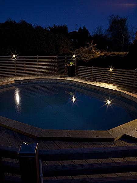 poolbelysning